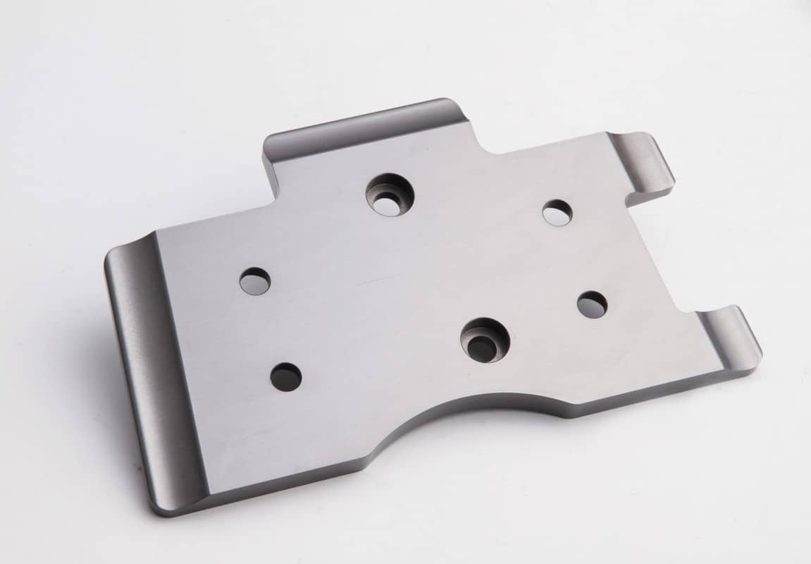 CNC milling and Machining precision aluminium bracket grey anodised