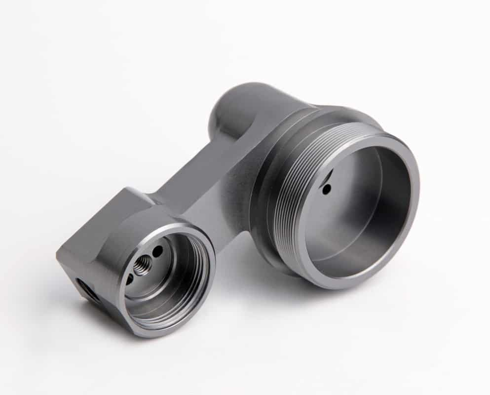 CNC milling and Machining precision aluminium part grey anodised