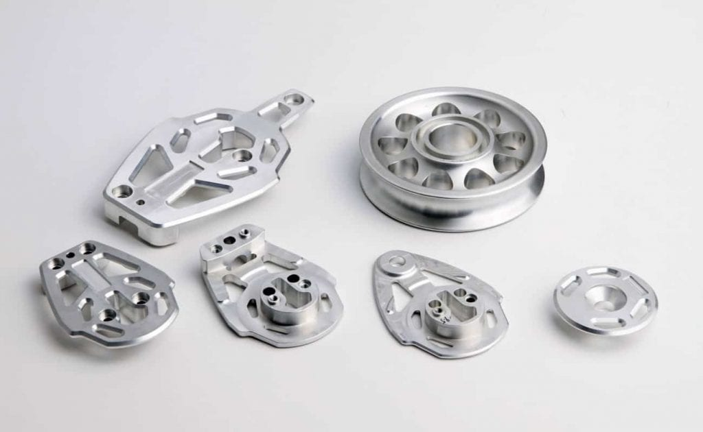 CNC Machined Parts Acid Etched aluminium