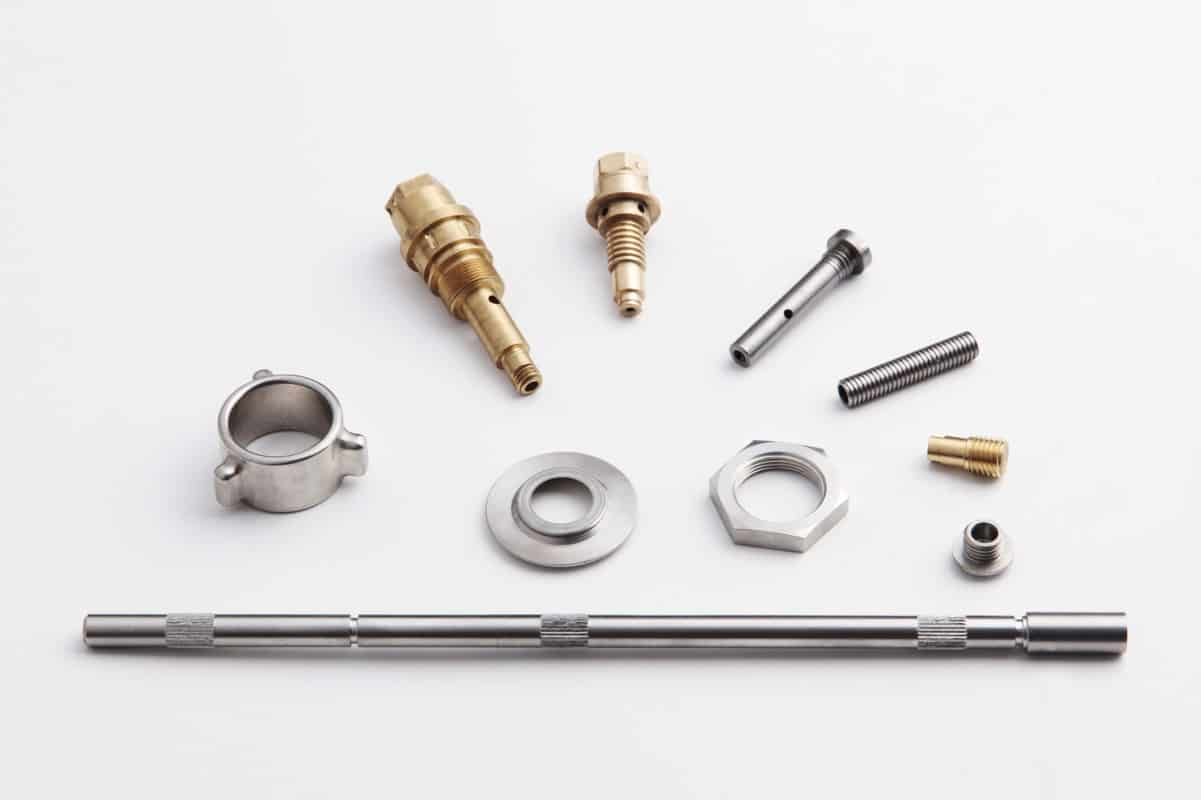 variety of cnc machined parts in different materials