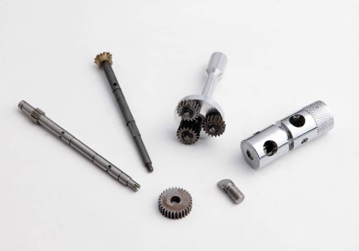 CNC Turned Parts with Gears Fitted