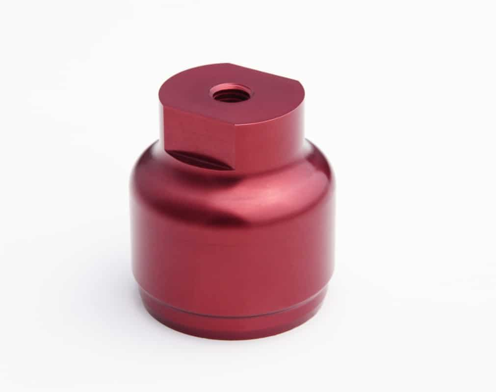 CNC Machining precision red anodised aluminium part