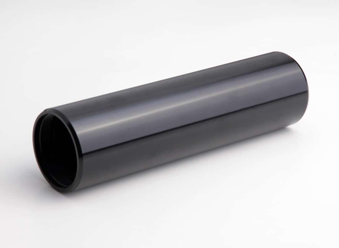 CNC Turned Tube Black Anodised