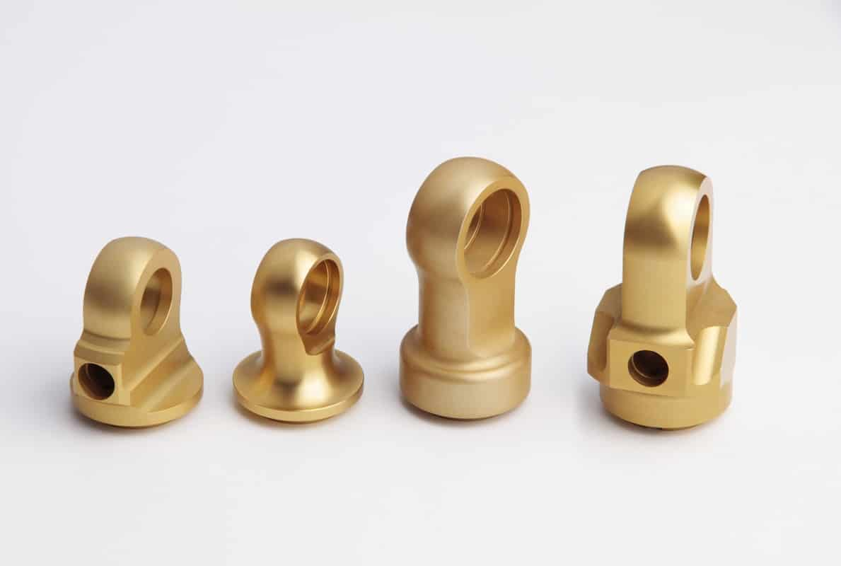 CNC Turned and Machined Gold Anodised precision parts