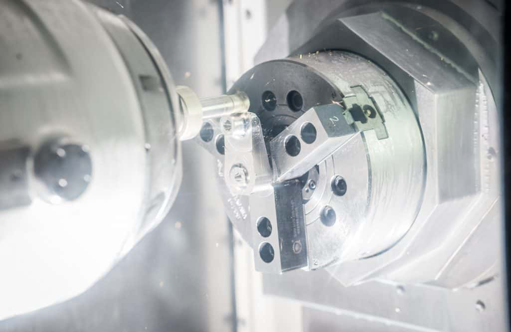 cnc machine machining an aluminium aerospace part
