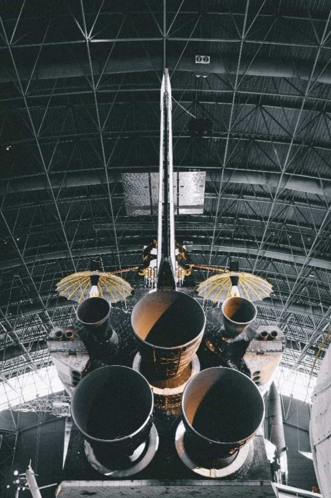 rocket in hangar