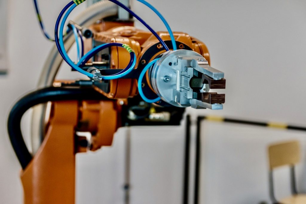 robotic arm manufacturing with cnc parts