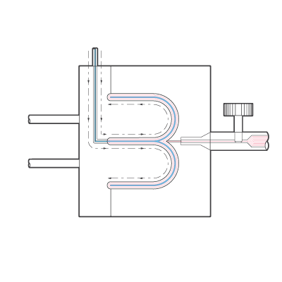 Internal Gas Assisted Injection Moulding Diagram