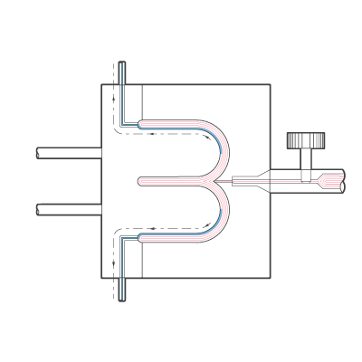 External Gas Assisted Injection Moulding Diagram